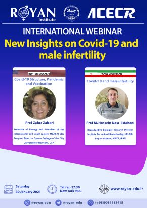 وبینار بین المللی New Insights on Covid-19 and male infertility